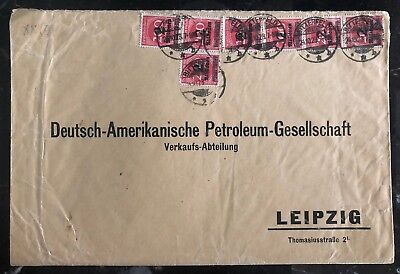 1923 Bitterf Germany Oversize Inflation Rate Cover To American Petroleum Leipzig