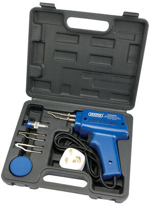 Draper 100W Electric Soldering Iron Gun Solder Gun Kit + 3 Tips + Case 71420