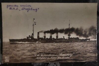 1916 Kiel Germany RPPC Postcard Cover HMS Strasbourg In The Battle Of Heligoland