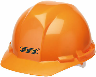 Draper Orange Safety Helmet To En397 High Density Polyethylene Shell - 65705