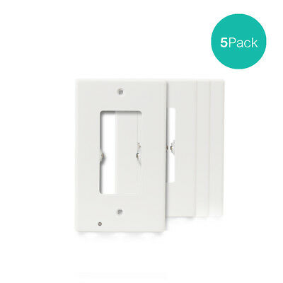 5 PACK Outlet Wall Plate Led Pathfinder Night Light Cover w/ Built in Sensor