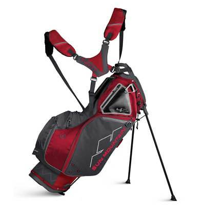 New 2019 Sun Mountain 4.5 LS Golf Stand Bag (Red / Steel) - CLOSEOUT