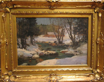 Antique German Impressionist Maybe Exhibited Chicago 1893 Worlds Fair Painting