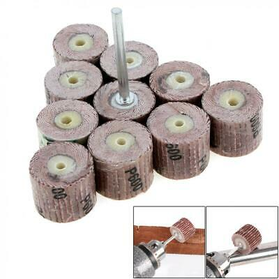 10pcs/set Flap Wheel Disc Sanding Abrasive 600 Grit for Drill 3mm Shank