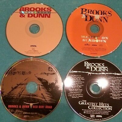 Lot of 4 Brooks & Dunn CD's - Red Dirt Road - Waitn' on Sundown - Greatest Hits