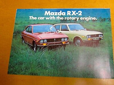 1972 Mazda RX2 Sales Brochure Rotary Engine Vintage Original