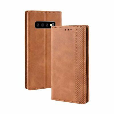 For Samsung Galaxy S10 Plus Flip PU Leather Wallet Magnetic Case Stand Cover