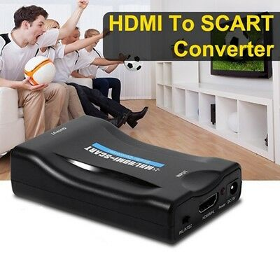 Conversor de video compuesto HDMI a SCART Adaptador de audio con cable USB  L8M8
