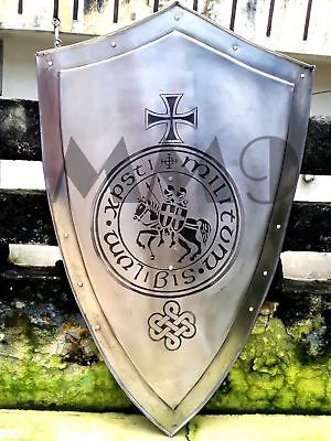 MEDIEVAL-KNIGHT-SHIELD-All-Metal-36-Handcrafted-Battle-Armor-Medieval Shield