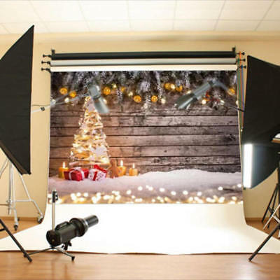 7x5FT Christmas Tree Gift Photography Background Studio Photo Prop Xmas Backdrop