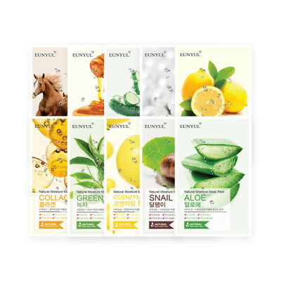 EUNYUL Natural Moisture Mask Sheets Packs Korean Cosmetics Beauty for All Skins