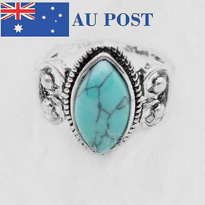 925 Sliver Plated Unique Ring New Year Gift Elegant Larvikite High Quality
