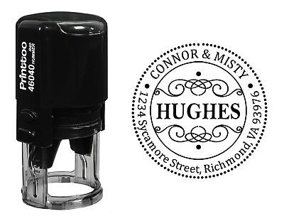 Custom Self Inking Round Rubber Stamp Personalized Stamper Gift Idea-PHS300