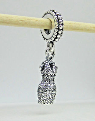4826a1c97 #97 Authentic Pandora Dazzling Dress Charm 792062CZ W/ Pouch & Polishing  Cloth!