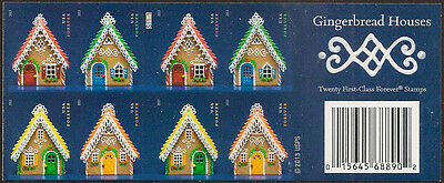US 4820d Gingerbread Houses imperf NDC booklet MNH 2013