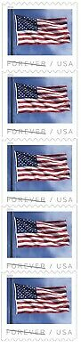 US Flag forever coil strip 5 APU MNH 2019 after Feb 15