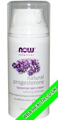 NOW NATURAL PROGESTERONE BALANCING SKIN CREAM WITH LAVENDER 3oz (85g)