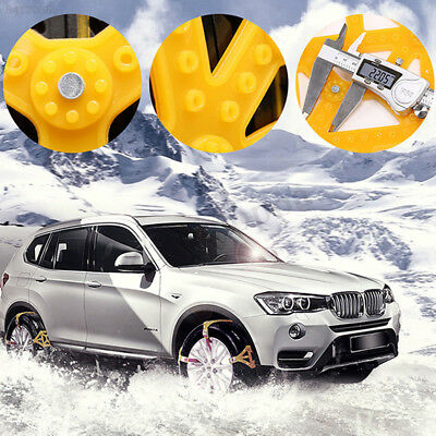 0486 Truck SUV Snow Tire Belt Thickened Yellow Roadway Safety Snow Chain