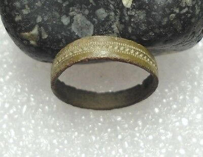 Ancient Roman Bronze Ring Original Authentic Antique Rare R561