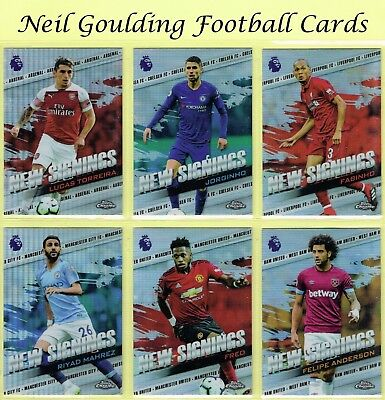 Topps CHROME Premier League 2018-2019 ☆ NEW SIGNINGS ☆ Football Insert Cards