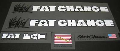 Fat Chance Tubing Decals-1 Pair Black or White sku Fatc801