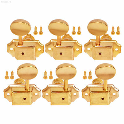 EB8E 3R 3L Semiclosed Tuning Pegs Machine Heads Tuners Gold For Acoustic Guitar~