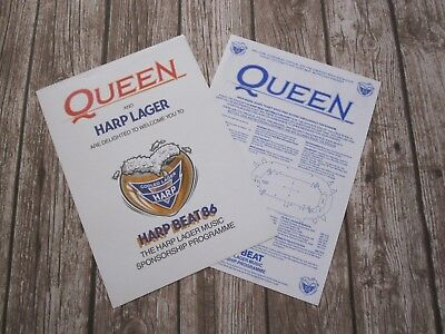 QUEEN : A Kind Of Magic 1986 Tour Poster Flyer + Wembley Plan Freddie Mercury