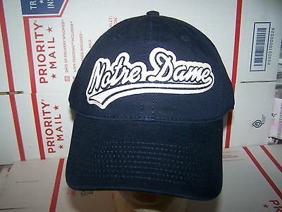 Notre Dame FIGHTING IRISH STRAP ADJUSTABLE HAT/CAP- AMERICAN NEEDLE --NCAA-BLUE