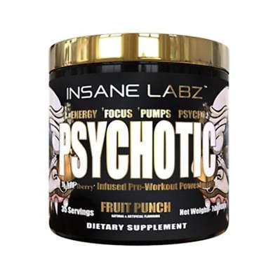 Insane Labz PSYCHOTIC GOLD Limited Stock Extremely Potent Pre Workout