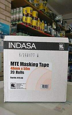 INDASA Low Bake Masking Tape 48mm x 50m 20 rolls