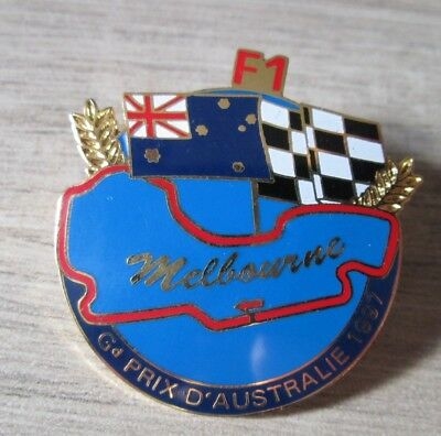 Pins Badge Collection F1 Melbourne Gp Australie 1997