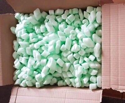 Box of Packing Peanuts Packaging Foam Nuggets Loose Void Filling biodegradable