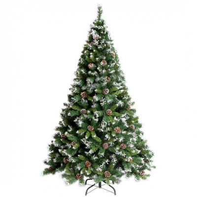 Premium Hinged Artificial Christmas Pine Tree 4-7FT Easy Assembly Solid NEW USA