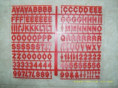 "1"" Red Coca-Cola Menu Board Letters & Numbers Set!"