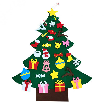 New 2018 Child Felt Christmas Tree DIY Gifts Xmas Home Wall Decoration HOT SELL