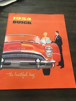 1954 Buick Showroom Salesman Dealer Brochure Original Booklet Catalog Old GM