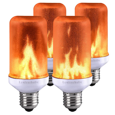 LED Bulbs Flame Effect Light Bulb Fire Flickering Decorative Simulated NEW US