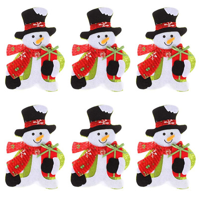 6 Pieces Christmas Silverware Holders Pockets Cute Kitchen Table Decoration NEW
