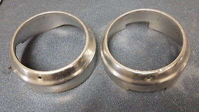 1960 chevrolet impala belair biscayne headlight trim ring bezels left pair