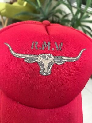 cf667b8fa5f Vintage Rm Williams Cap Red With Rm Longhorn Logo