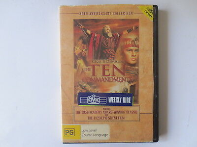The Ten Commandments 1956 Classic DVD R4 #5379