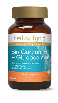 Herbs Of Gold Bio Curcumin Plus Glucosamine 60 Tabs / Joint Support