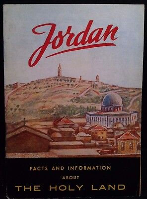 VINTAGE 1950's JORDAN FACTS & INFORMATION ABOUT THE HOLY LAND BOOKLET CHRISTIAN