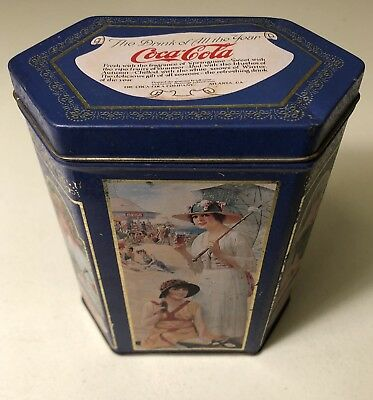 Vintage 1994 Coca Cola The Drink Of All The Year W/ Retro Design Metal Tin ~Coke