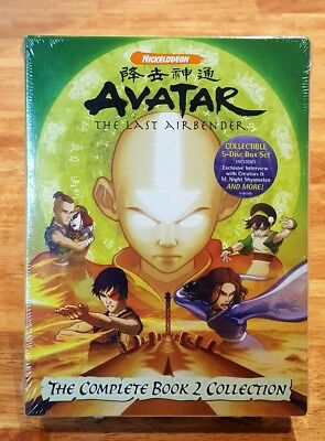 NEW! AVATAR The Last Airbender 5-DVD Set Complete Book 2 Collection 20 Episodes