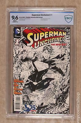 Superman Unchained (DC) 1B 2013 Lee B&W 1:300 Variant CBCS 9.6
