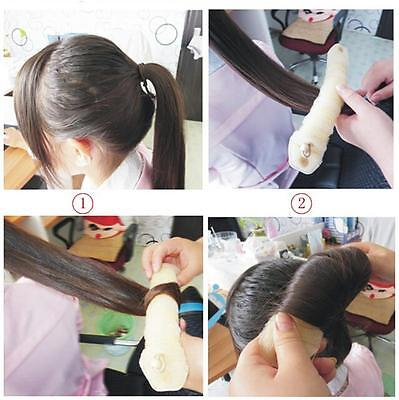 2pcs Sponge Hair Styling Bun Maker Tool Donut Former ring Shaper Magic Styler HA