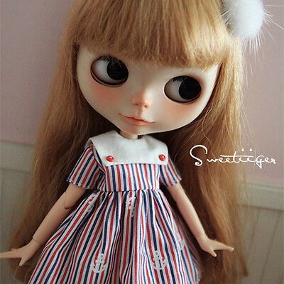 """【Tii】Swan dress outfit 12/"""" 1//6 doll Blythe//Pullip//azone Clothes Handmade girl"""