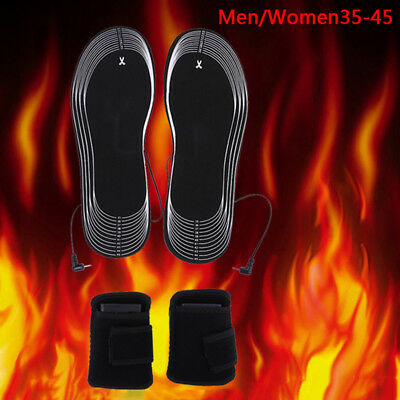 Battery Heated Shoe Insoles Forefoot Warmer Electric Heater Feet Boot Socks *tr