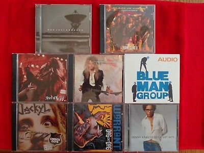 Pick 2 CD's from 23 cds Metallica Megadeth Queensryche Warrant AC/DC Skid Row ++